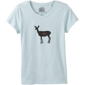 Prana Graphic Lyhythihainen paita Naiset, aqua deer